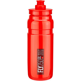 Elite Fly Bidón 750ml, red/bordeaux logo